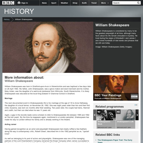 BBC History - William Shakespeare