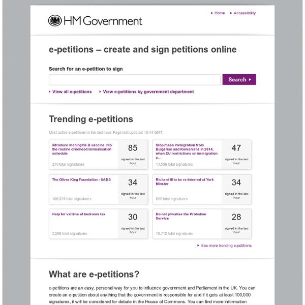 HM Government e-petitions