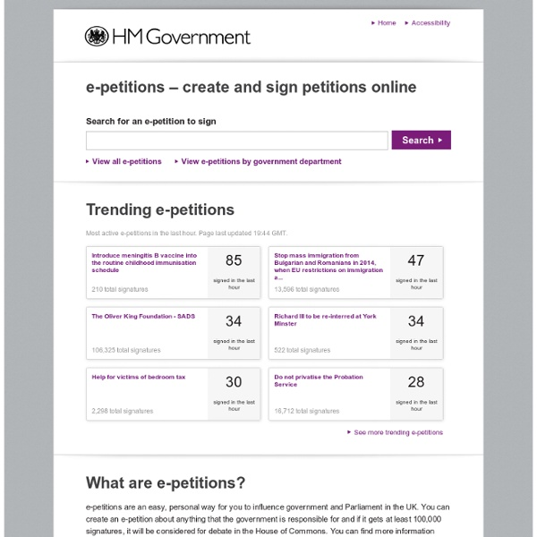 HM Government e-petitions