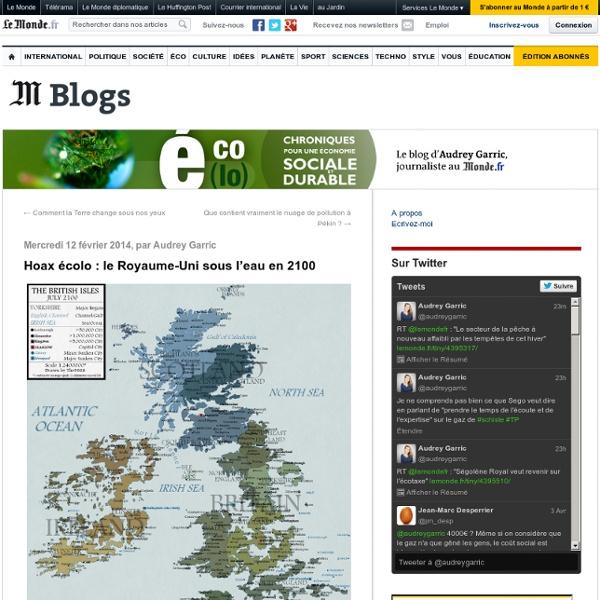 Hoax écolo : le Royaume-Uni sous l'eau en 2100