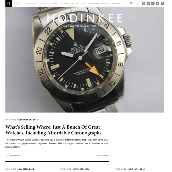 HODINKEE - Wristwatch News, Reviews, & Original Stories