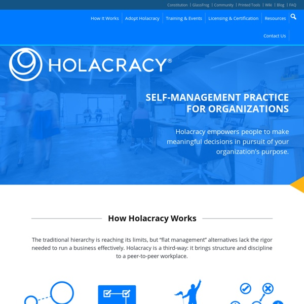 Holacracy – A complete system for self-organization