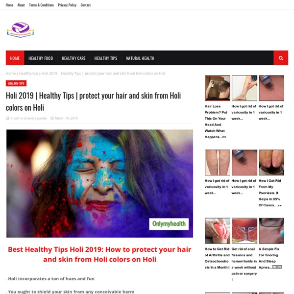 Protect your hair and skin from Holi colors on Holi