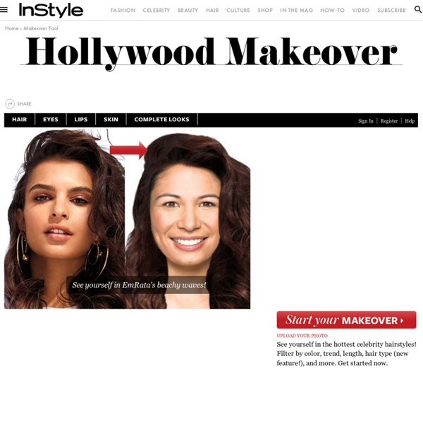 Hollywood Hair Virtual Makeover - Try On Celebrity Hairstyles Online at InStyle