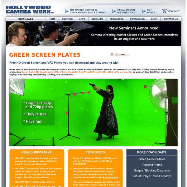 Downloads - Free HD Green Screen Plates and Footage to experiment with