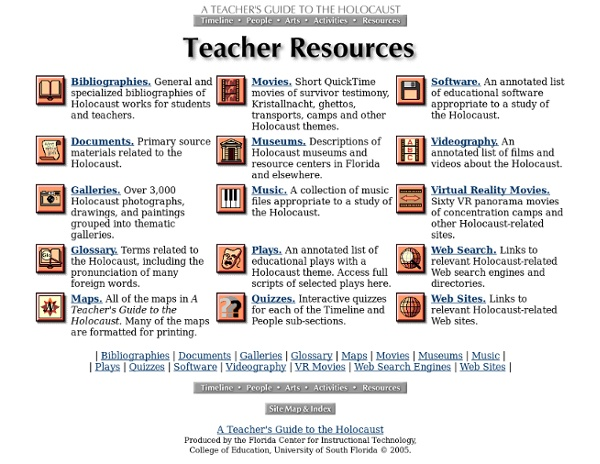 Holocaust Resources for Teachers