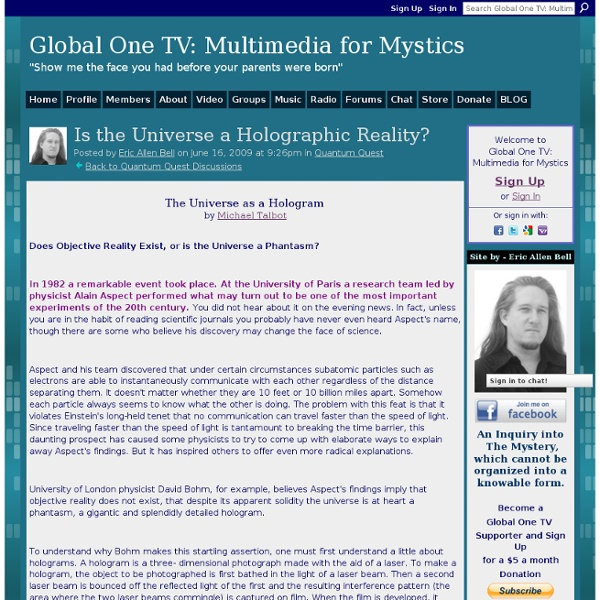 Is the Universe a Holographic Reality?