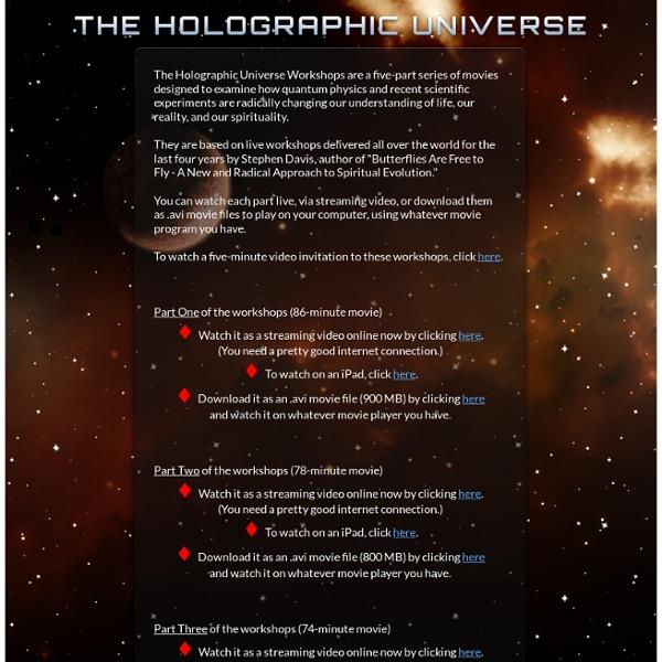 Holographic Universe Workshops