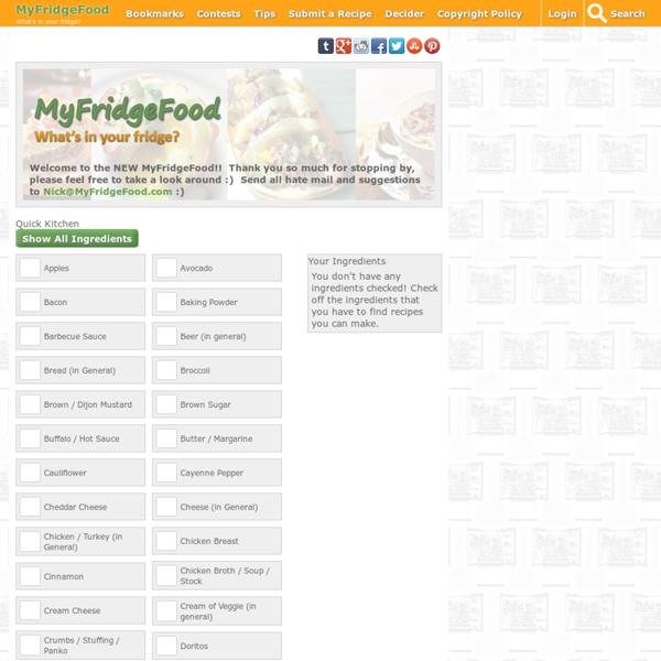 MyFridgeFood - Home