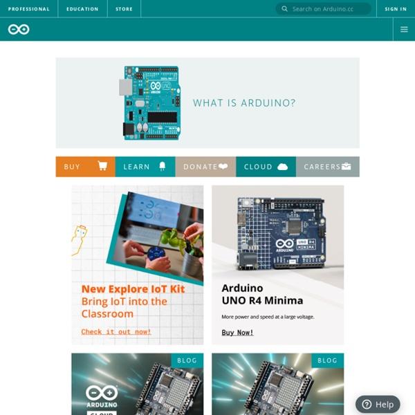 Arduino HomePage