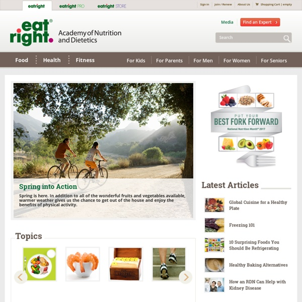 EatRight: Academy of Nutrition and Dietetics
