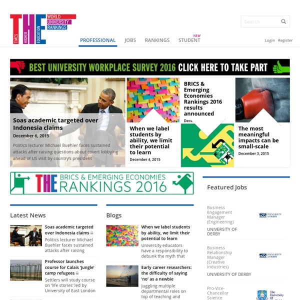Times Higher Education - Education news and university jobs