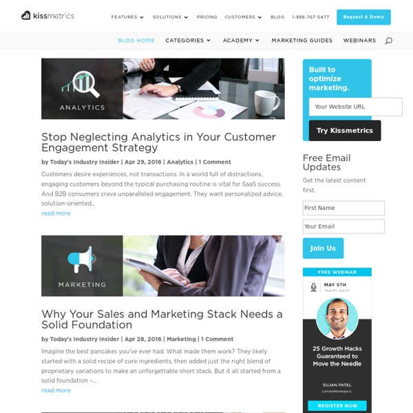 Kissmetrics Online Marketing Blog - Analytics & Conversion Rate Optimization