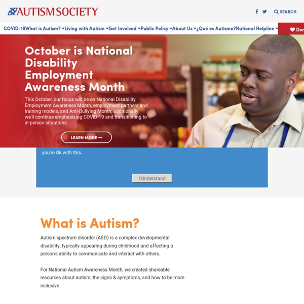 Autism Society - Homepage
