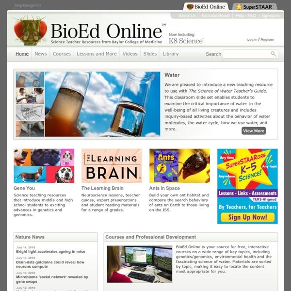 BioEd Online: Biology Teacher Resources