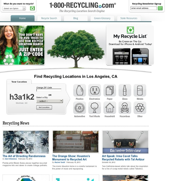 1-800-Recycling - Find Recycling Center Locations