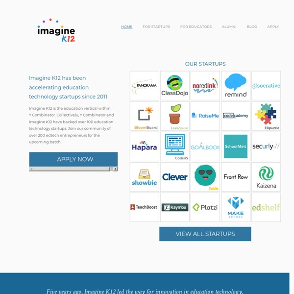 Imagine K12 - K12 edtech accelerator - Home