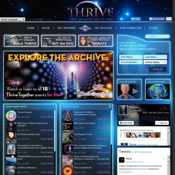 Thrive home web page