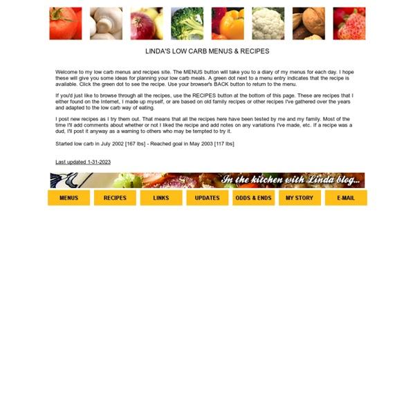 Linda's Low-Carb Menus & Recipes