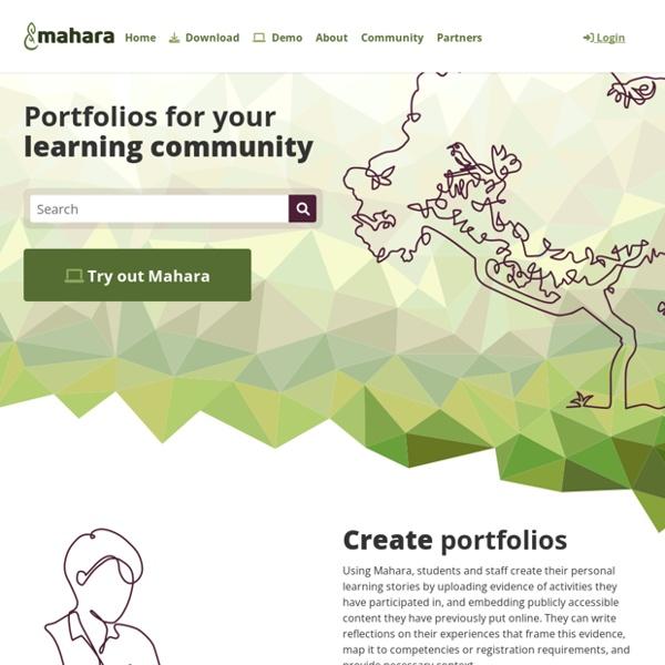 Home - Mahara ePortfolio System
