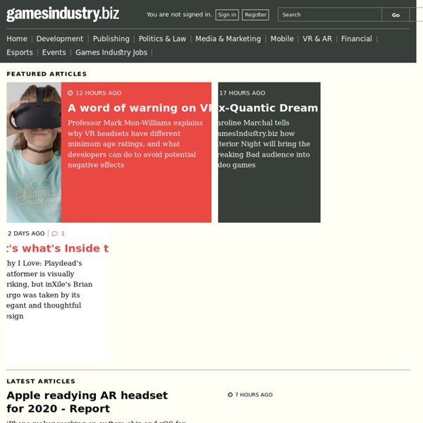 Gamesindustry.biz » Jobs