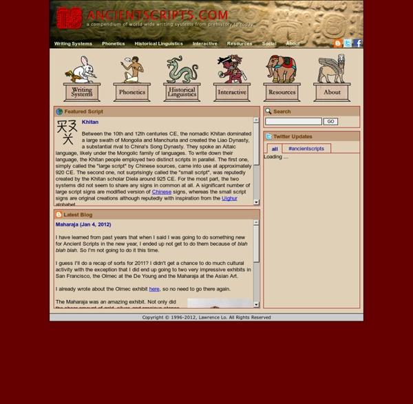 Ancient Scripts: Home
