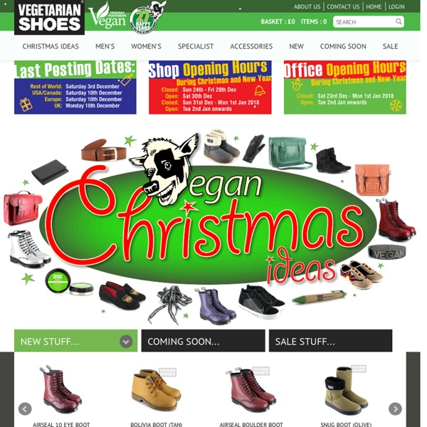 Vegetarian Shoes - Cruelty free shoes, boots, trainers, sandals, belts, jeans and para boots.