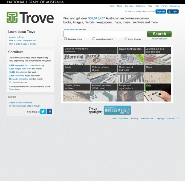 Trove - National Library of Australia