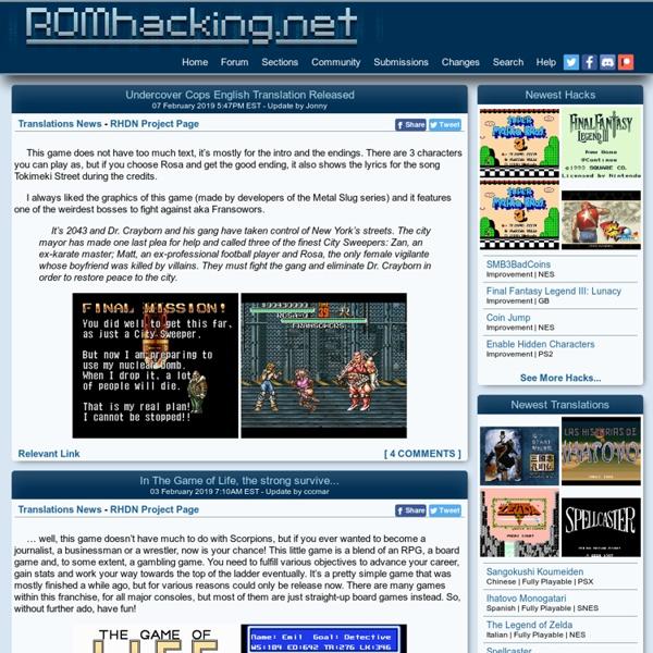Romhacking net - Home | Pearltrees