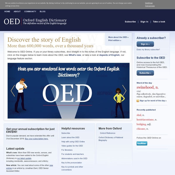 Home : Oxford English Dictionary