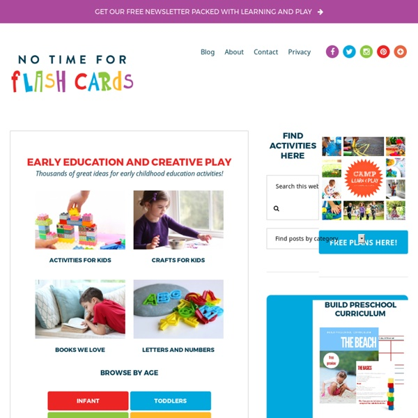 No Time For Flash Cards - kids crafts, books, and play ideas for children.