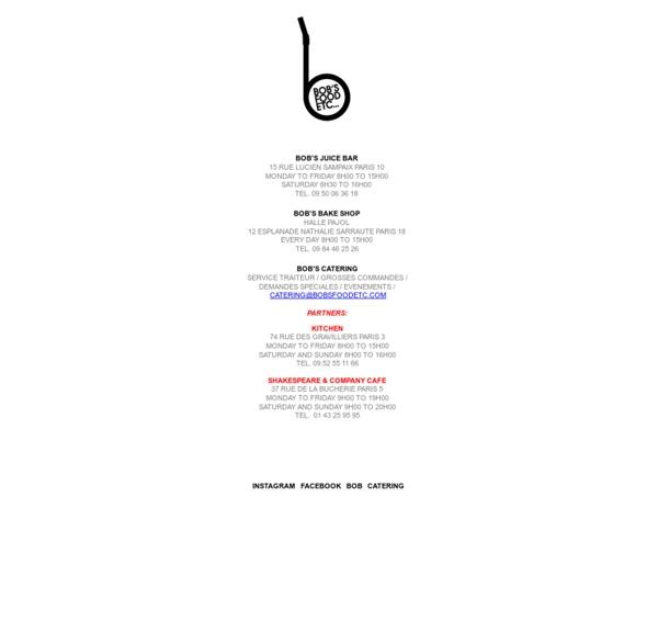 Bob's Juice Bar 75018