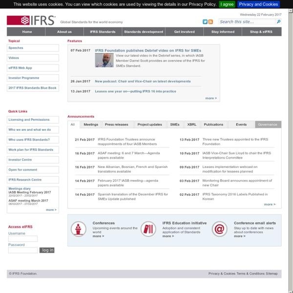 Site IFRS - IASB