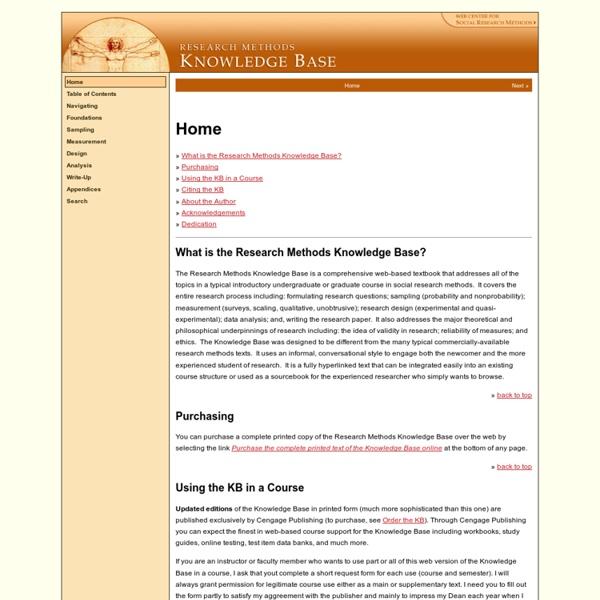 Social Reserch Methods Home