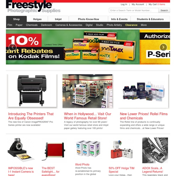 Freestyle Photographic Supplies - Traditional Black & White Film, Paper, Chemicals, Holgas and ULF