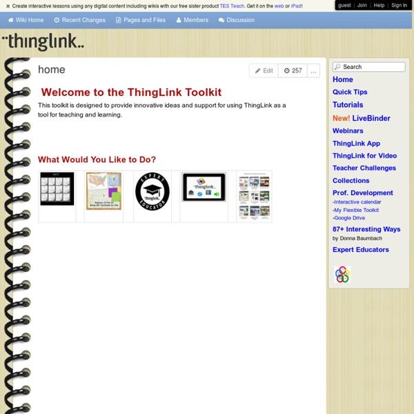 ThingLinkToolkit - home