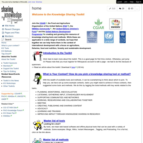Knowledge Sharing Tools and Methods Toolkit - home