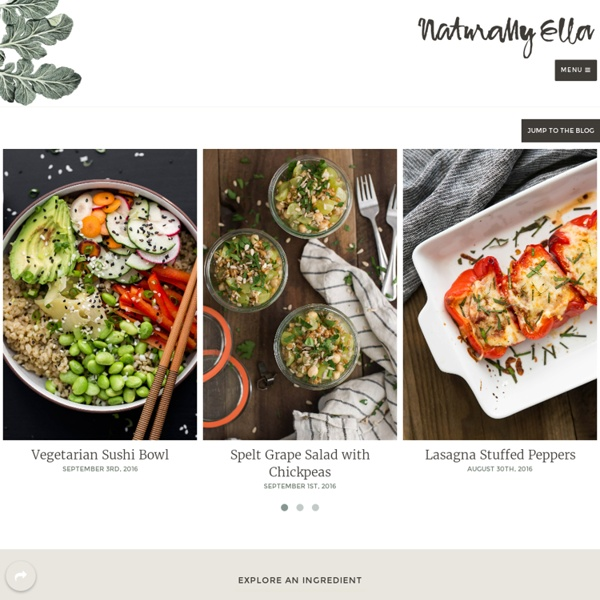 Seasonal, Whole Foods, Vegetarian Recipes