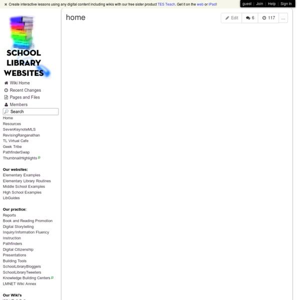 Schoollibrarywebsites - home