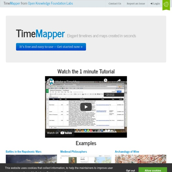 Home - TimeMapper - Make Timelines and TimeMaps fast! - from the Open Knowledge Foundation Labs