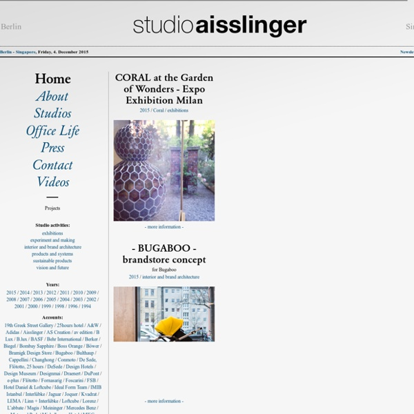 Studio aisslinger - Home