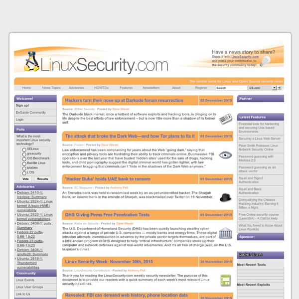 Linux Security - The Community's Center for Security