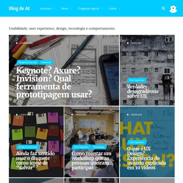Arquitetura de informação, usabilidade, user experience design, interatividade e diversão.