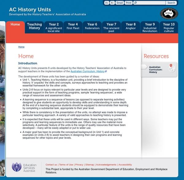 AC History Units