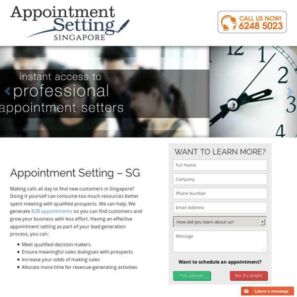 Home - Appointment Setting