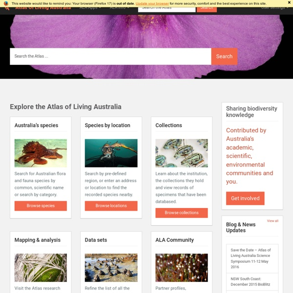 Atlas of Living Australia « sharing biodiversity knowledge
