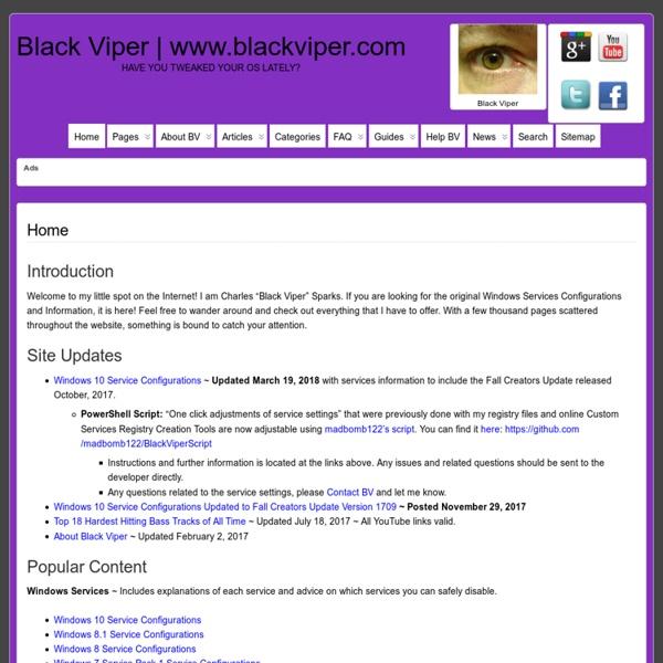 Black Viper's Web Site