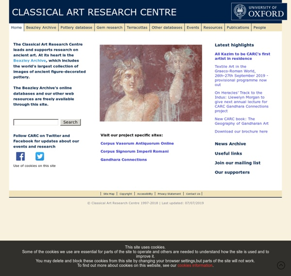 Home - The Classical Art Research Centre and The Beazley Archive