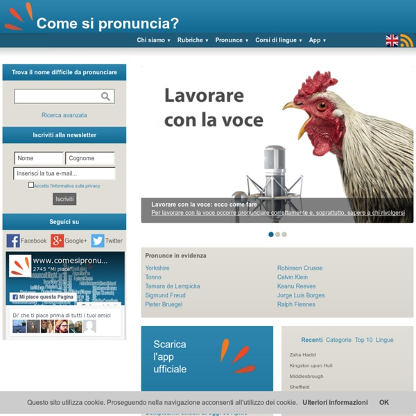 Home - Come si pronuncia