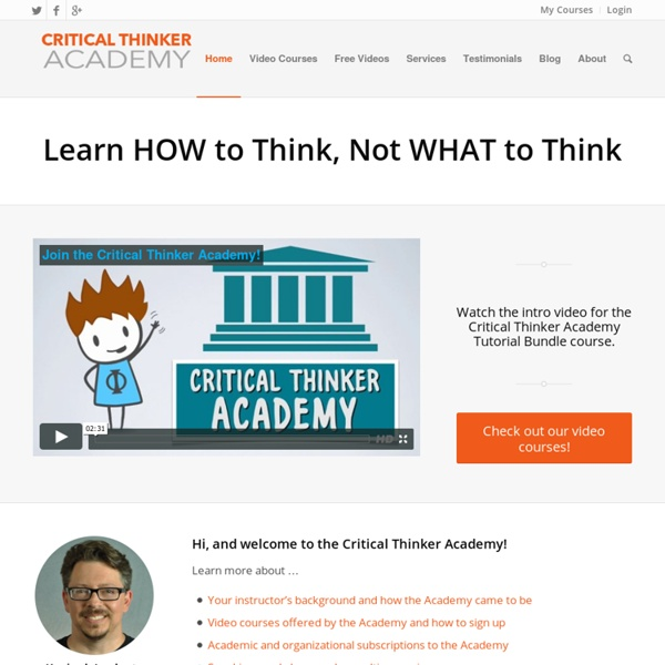 Home - Critical Thinker Academy